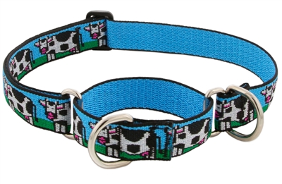 "Lupine 1"" Udderly Cows 15-22"" Combo/Martingale Training Collar - Large Dog LIMITED EDITION"