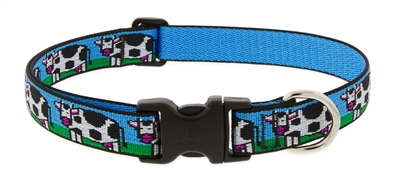 "Retired Lupine 1"" Udderly Cows 16-28"" Adjustable Collar MicroBatch"