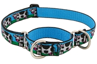 "Retired LupinePet 1"" Udderly Cows 19-27"" Martingale Training Collar - Large Dog"
