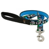 "Lupine 1"" Udderly Cows 4' Long Padded Handle Leash - Large Dog LIMITED EDITION"