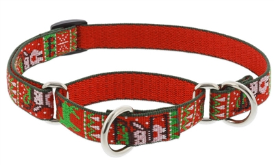 "Lupine 3/4"" Ugly Sweater 10-14"" Martingale Training Collar"