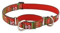"Retired Lupine 1"" Ugly Sweater 19-27"" Martingale Training Collar"