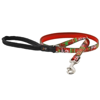 "Lupine 1/2"" Ugly Sweater 4' Padded Handle Leash"