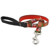 "Retired Lupine 3/4"" Ugly Sweater 4' Padded Handle Leash"