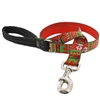 "Lupine 1"" Ugly Sweater 6' Long Padded Handle Leash"