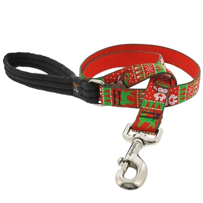 "Retired Lupine 1"" Ugly Sweater 6' Long Padded Handle Leash"