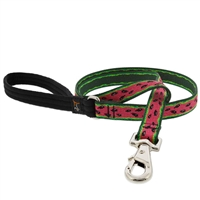 "Lupine 3/4"" Watermelon 4' Padded Handle Leash Ships in July 2021"