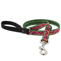 "Lupine 3/4"" Watermelon 6' Padded Handle Leash Ships in July 2021"