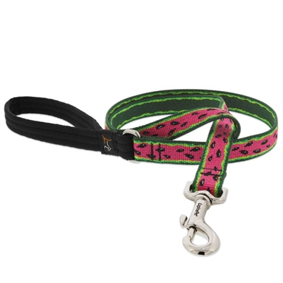 "Retired Lupine 3/4"" Watermelon 6' Padded Handle Leash MicroBatch"