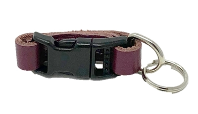 Leather Brothers Klip-It Pet Tag Connector - Grape