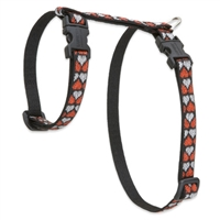 "Retired Lupine 1/2"" Love Struck 9-14"" H-Style Cat Harness"