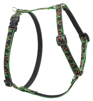 "Retired LupinePet Black Cherry 12-20"" Roman Harness - Small Dog"