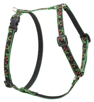 "Lupine Retired Black Cherry 9-14"" Roman Harness"