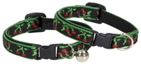 Lupine Retired Black Cherry Cat Collar with Bell