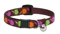 "Retired Lupine 1/2"" Candy Apple Cat Safety Collar with Bell"