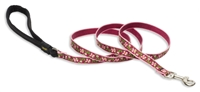Retired Lupine Cherry Blossom 6' Padded Handle Leash - Small Dog or Cat