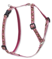 "Retired Lupine Cherry Blossom 9-14"" Roman Harness - Small Dog"