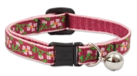Lupine Retired Cherry Blossom Cat Collar with Bell