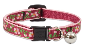 Retired Lupine Cherry Blossom Cat Collar with Bell