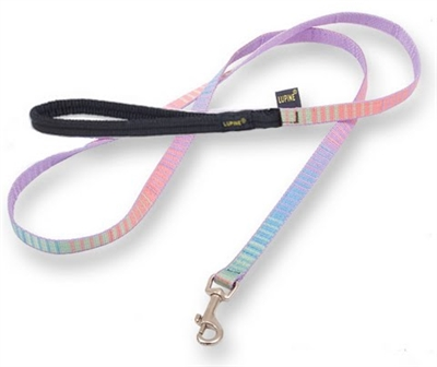 Retired Lupine Cotton Candy 6' Padded Handle Leash - Small Dog or Cat