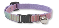 "Retired Lupine 1/2"" Cotton Candy Cat Safety Collar with Bell"