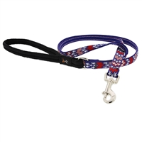"Lupine 1/2"" America 6' Padded Handle Leash - Small Dog or Cat LIMITED EDITION"