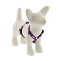 "Lupine 1/2"" America 9-14"" Roman Harness - Small Dog LIMITED EDITION"