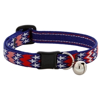 "Lupine 1/2"" America Cat Collar with Bell MicroBatch"