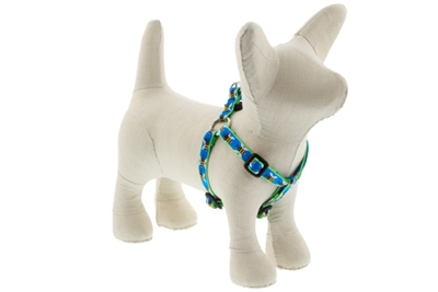 "Lupine Blue Bees 10-13"" Step-in Harness - Small Dog LIMITED EDITION"