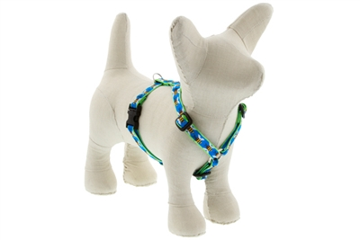 "Lupine Blue Bees 9-14"" Roman Harness - Small Dog LIMITED EDITION"