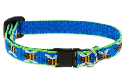 "Retired Lupine 1/2"" Blue Bees Cat Safety Collar"