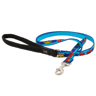 "Retired Lupine 1/2"" Choo Choo 6' Padded Handle Leash - Small Dog or Cat MicroBatch"