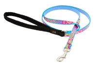 "Retired Lupine 1/2"" Cottage Garden 6' Padded Handle Leash MicroBatch"