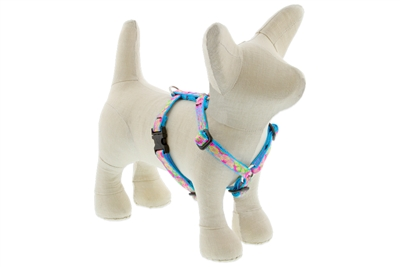 "Lupine Cottage Garden 9-14"" Roman Harness - Small Dog LIMITED EDITION"