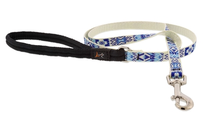 "Lupine 1/2"" Fair Isle 6' Padded Handle Leash - Small Dog or Cat LIMITED EDITION"