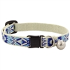 "LupinePet 1/2"" Fair Isle Safety Cat Collar with Bell MicroBatch"