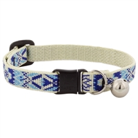 "Retired Lupine 1/2"" Fair Isle Safety Cat Collar with Bell MicroBatch"