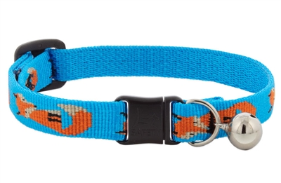 "Lupine 1/2"" Foxy Paws Cat Collar with Bell LIMITED EDITION"