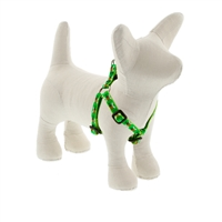 "Retired LupinePet 1/2"" Green Bees 12-18"" Step-in Harness - Small Dog"