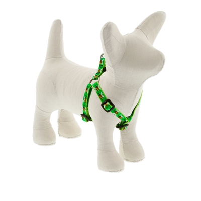 "Lupine 1/2"" Green Bees 12-18"" Step-in Harness - Small Dog LIMITED EDITION"