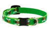 "Lupine 1/2"" Green Bees Cat Safety Collar LIMITED EDITION"