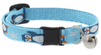 "Retired Lupine 1/2"" Penguin Party Cat Safety Collar with Bell"