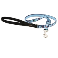 "Lupine 1/2"" Sail Away 6' Padded Handle Leash - Small Dog or Cat LIMITED EDITION"
