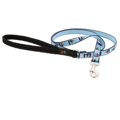"Retired LupinePet 1/2"" Sail Away 6' Padded Handle Leash - Small Dog or Cat"