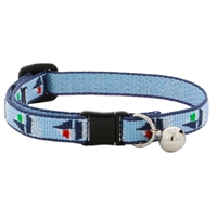 "Lupine 1/2"" Sail Away Cat Collar with Bell LIMITED EDITION"