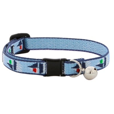 "Retired LupinePet 1/2"" Sail Away Cat Collar with Bell"