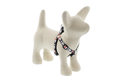 "Retired Lupine 1/2' Tuxedo 12-18"" Step-in Harness - Small Dog"