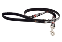 "Retired Lupine 1/2"" Tuxedo 6' Padded Handle Leash - Small Dog or Cat"