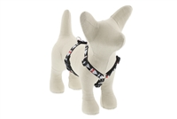 "Retired Lupine 1/2"" Tuxedo 9-14"" Roman Harness - Small Dog"