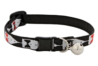 "Retired LupinePet 1/2"" Tuxedo Cat Collar with Bell"